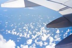 Vleugel van vliegtuig Royalty-vrije Stock Afbeelding