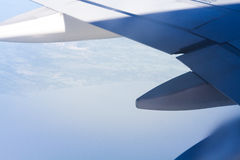 Vleugel van vliegtuig Royalty-vrije Stock Foto's