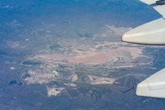 Vleugel van vliegtuig Royalty-vrije Stock Foto