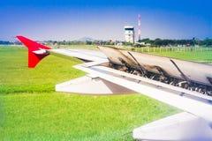 Vleugel van vliegtuig Royalty-vrije Stock Afbeeldingen