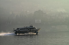 Vleugelboot bij zonsondergang Royalty-vrije Stock Afbeeldingen