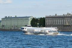 Vleugelboot Heilige Petersburg Stock Foto