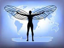 Vleugels aan de Wereld stock illustratie