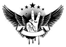Vleugels en overwinning royalty-vrije illustratie