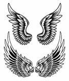 Vleugels Geplaatst Vector Royalty-vrije Stock Afbeelding