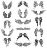 Vleugels grafische illustratie stock illustratie