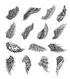 Vleugels grafische illustratie vector illustratie