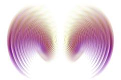 Vleugels in het Onduidelijke beeld van de Motie - Purple Stock Illustratie