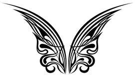 Vleugels. Het ontwerpelementen van de tatoegering stock illustratie