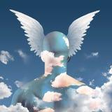 Vleugels op hoofd Stock Afbeeldingen