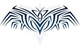 Vleugels in tatoegeringsstijl Royalty-vrije Stock Afbeeldingen