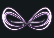 Vleugels van het gloeien purper licht Stock Fotografie