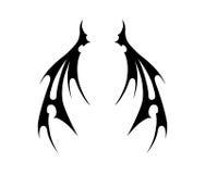 Vleugels van kwaad Stock Afbeeldingen