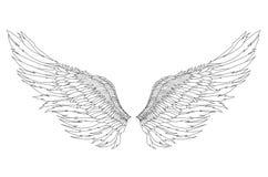 vleugels Vector illustratie op witte achtergrond Rebecca 36 royalty-vrije illustratie