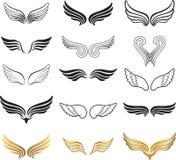 Vleugels Vectorreeks. Stock Afbeeldingen