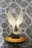 Vleugelsbeeldhouwwerk Royalty-vrije Stock Fotografie