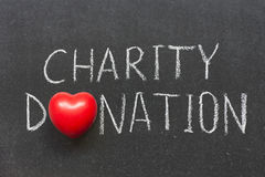 Välgörenhetdonation Royaltyfri Fotografi
