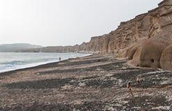 Vlichada beach in Santorini Royalty Free Stock Photography
