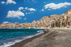 Vlichada strand, Cyclade öar, Grekland royaltyfri foto