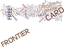 Vlieg aan Denver For Five Bucks Text-Achtergrondword Wolkenconcept royalty-vrije illustratie