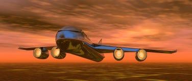 Vlieg bij Zonsondergang Stock Afbeelding