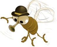 Vlieg in een hoed royalty-vrije illustratie