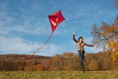 Vlieg een vlieger Stock Foto's