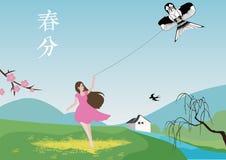 Vlieg een vlieger stock illustratie