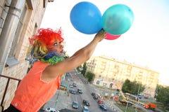 Vlieg met ballonsavontuur Royalty-vrije Stock Afbeeldingen