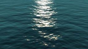 Vlieg over oceaan loopable waterspiegel, HD, hoge definitie 1080p, naadloze lijn Grote achtergrond voor filmkredieten of intro stock videobeelden