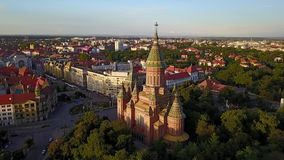 Vlieg over Timisoara, Roemenië stock footage