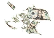 Vlieg Twintig dollarsbankbiljetten stock illustratie