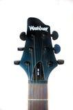 Vlieg in V-gitaar pegbox Royalty-vrije Stock Foto's