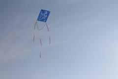 Vlieg 2 van de Gandhi Blauwe Vlieger Stock Afbeeldingen