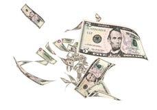 Vlieg Vijf dollarsbankbiljetten royalty-vrije illustratie