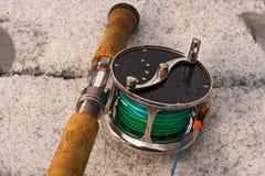 Vlieg-vissende van Classik spoel 2 stock afbeelding