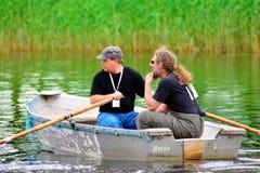 Vlieg visserij (het gieten) Royalty-vrije Stock Foto's