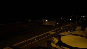 Vliegdekschip stock footage