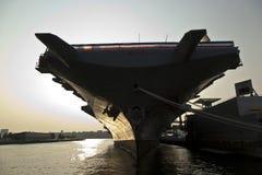 Vliegdekschip als museum Royalty-vrije Stock Afbeelding