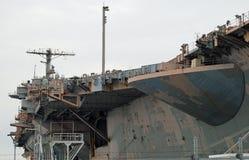 Vliegdekschip USS John F. Kennedy Stock Foto