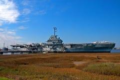 Vliegdekschip - Yorktown royalty-vrije stock foto's