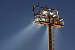 Vliegen op licht Stock Foto