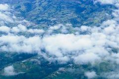 Vliegend aan San Jose, Costa Rica Stock Foto