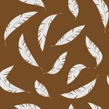 Vliegend abstract feathes naadloos patroon vector illustratie