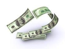 Vliegend Amerikaans geld   Stock Afbeeldingen