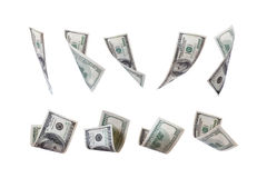 Vliegend Dollargeld Royalty-vrije Stock Afbeelding