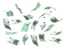Vliegend (Euro) Geld Royalty-vrije Stock Foto