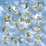 Vliegend geld Royalty-vrije Stock Afbeelding