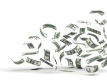Vliegend Geld (Dollar) Stock Foto's