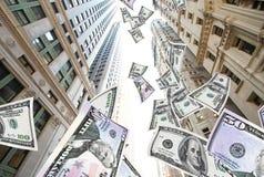 Vliegend geld NYC Royalty-vrije Stock Foto's